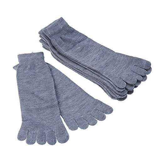 Healifty Fünf Finger Socken Zehensocken 5 Zehensocke Baumwolle 5 Paare