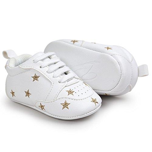 ♥ Loveso ♥ 2017 Baby Shoes Fünf Spitzen Stern Stickerei Verband Schuhe Kleinkind Turnschuhe Golden