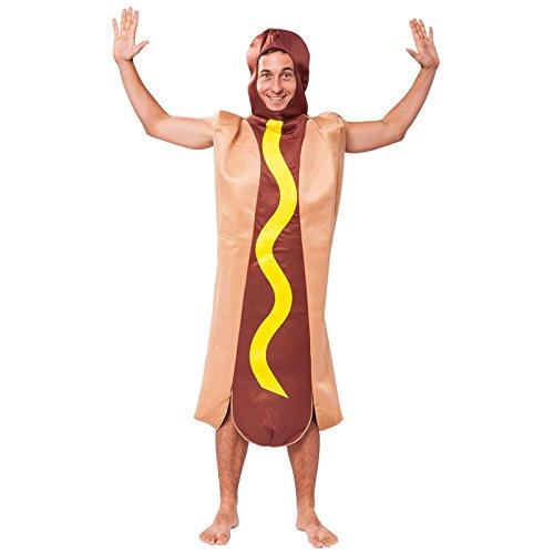 Bristol Novelty AC493 Hotdog Kostüm, Mehrfarbig, Einheitsgröße (Burger Dog Kostüm)