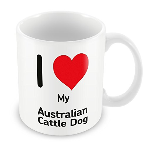 Duke Gifts I love My Australian Cattle Dog Mug Heart Dogs 010