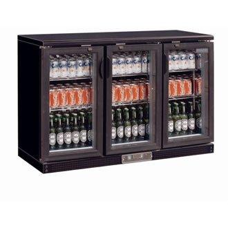 Enfriador expositor de bar negro 273 botellas Polar
