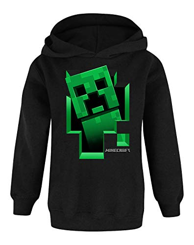 Unbekannt Minecraft Creeper Inside Boy's Black Hoodie (13-14 years)