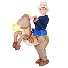 Idea Regalo - Bodysocks Costume Gonfiabile da Cowboy per Bambini