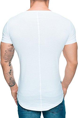 Red Bridge Redbridge Herren T-Shirt Herrenshirt Kurzarm Disco Dope Streetwear Swag Discowear Freizeitshirt Oversize Longshirt by Cipo Baxx Weiß