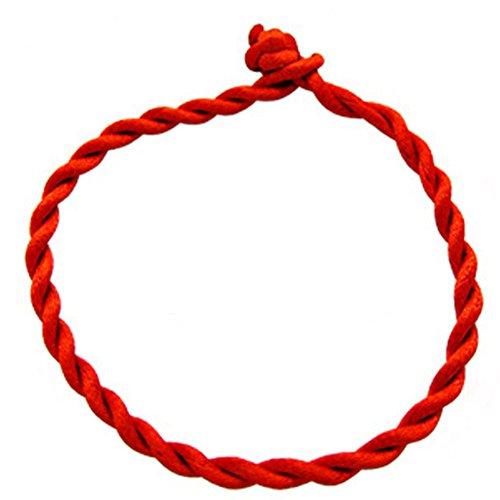 Hosaire 1x Mädchen Armband Mode Handgewebtes Rote Leder Seil Armbänder Damen Männer Schmuck Bracelet Zubehör Armreifen,Länge: 18-19 cm