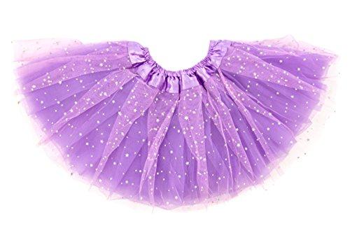 Dancina Mädchen Tüllrock Tutu Ballettrock Classic 8-13 Jahre Lavendel Glitzer (Tutu Glitzer)