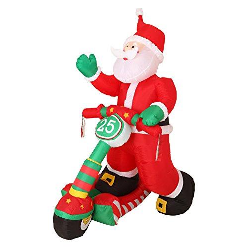 Autour de minuit intorno di mezzanotte 5aut419ro babbo natale scooter gonfiabile luminoso plastica multicolore 26x 21x 150cm