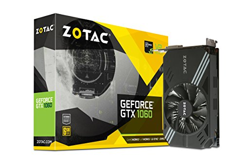 ZOTAC GeForce GTX 1060 Mini Grafikkarte (NVIDIA GTX 1060, 6GB GDDR5, 192bit, Base-Takt 1506 MHz, Boost-Takt 1708 MHz, 8 GHz)