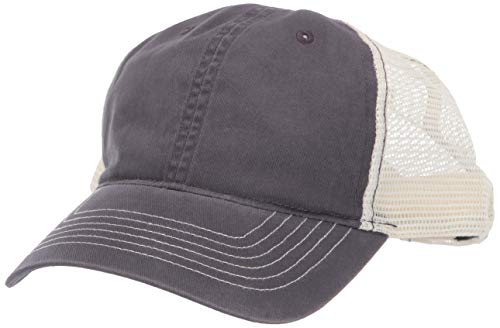 Clementine Herren ULTC-8114-Cut Washed Brushed Cotton Twill Trucker Cap Kappe, Grey/Stone, Einheitsgröße Washed Cotton Twill Cap