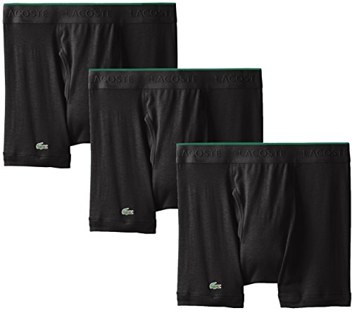 Lacoste Herren Boxershorts, 100% Baumwolle, Multipack - Schwarz - Small