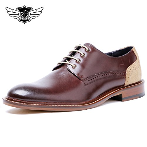 Desai-Mens-Fashion-Formal-Shoes-Genuine-Leather-Casual-Lace-Up-Brogues-Shoes-Goodyear-Welted-Brown