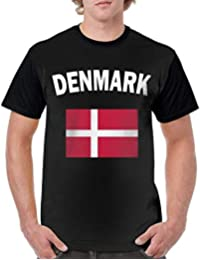 Gorgeous Socks Mens Short Sleeve Crew Neck T Shirts Denmark Flag-1 Sportswear t-