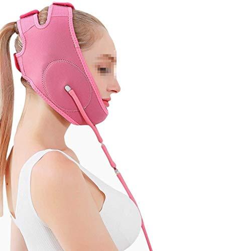 ZUCAI Facial Correction Belt - Aufblasbare, dünne Gesichtsmaske mit tragbarem Gesichtslifting-Instrument und Gesichtsverband zur Korrektur des Unterkiefers (Size : Pink) (Aufblasbare Schulterpolster)
