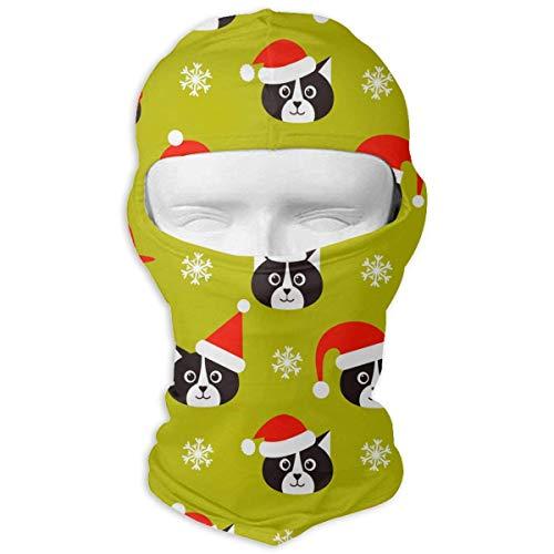 Wdskbg UV Schutz Gesichtsmaske für Radfahren Outdoor Sports Vollmasken Katzen und Santa Hüte Gelb Balaclava Hood Skullies Fashion19 (Santa Gelb Hut)