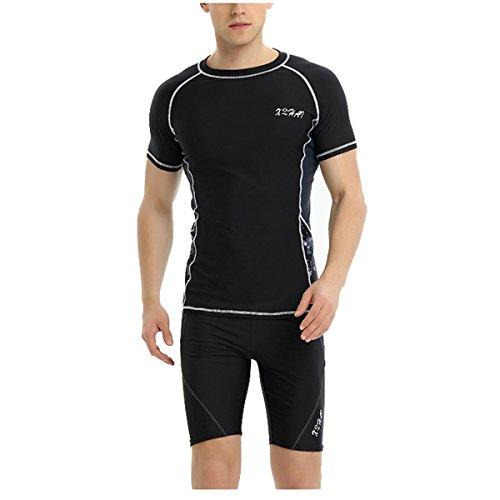 Taucheranzüge Männer Split Langärmelig Sonne Männer Badeanzug Hose Tauchanzug Wasser,6910Three-pieceSuitSuit-XXXXXL (Badeanzug Für Männer 2017)