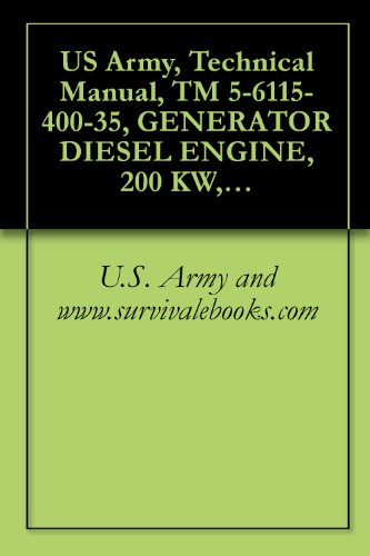 US Army, Technical Manual, TM 5-6115-400-35, GENERATOR DIESEL ENGINE, 200 KW, 60 CYCLE, AC, 120/208, 240/416 V, 3 PHAS CONVERTIBLE TO 167 KW, 50 CYCLE (English Edition) - Diesel-generatoren