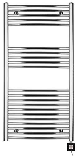 anapont Badheizkörper, elektrisch, Elektro 1175h x 750b Chrom/gebogen, Handtuchheizkörper, Handtuchtrockner, hochwertig