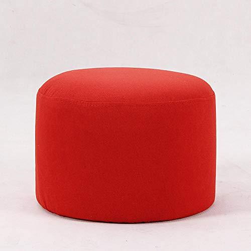 Velliceasay Massiv Holz Sitzhocker,Fußstütze klein Sitz Fußstütze Stuhl geeignet für Wohnzimmer Schlafzimmer,Stoffhocker Heimhocker Erwachsener kurzer Fester Fußhocker, rot - Sockel-storage-bett
