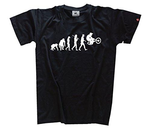 Shirtzshop Evolution BMX I Kids Shirt Kinder-Shirt Schwarz 146
