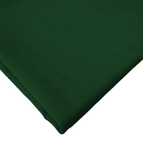 Cotton Fabric 1 Metre, High Quality 100% Cotton Twill Fabric. Forest Green