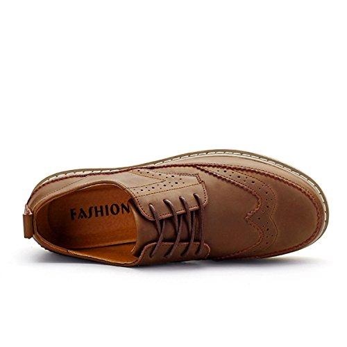 Miyoopark , Chaussures de ville à lacets pour homme Marron