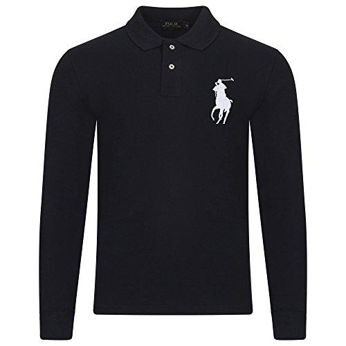Ralph Lauren Herren Poloshirt, Einfarbig NAVY (WHITE PONY)