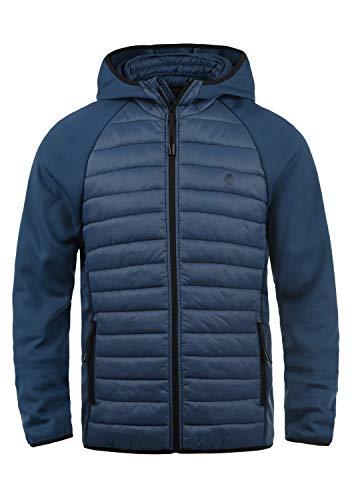 Blend Nils Sporty Herren Steppjacke Übergangsjacke Jacke gefüttert mit Kapuze, Größe:L, Farbe:Ensign Blue (70260)