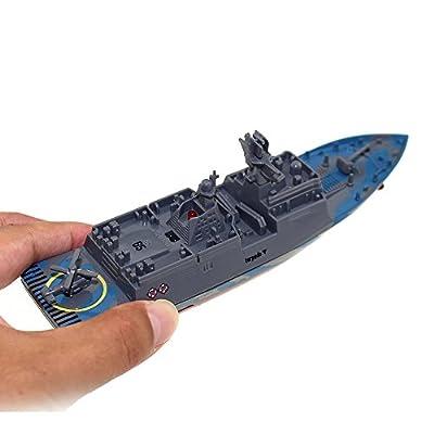 Tipmant RC Militaire Modèle de Navire Ship Bateau à Télécommande Speedboat Yacht Electric Water Toy pour Enfants