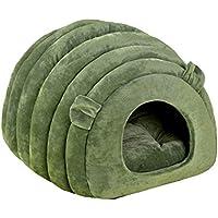 QJKai Suministros para mascotas jaula creativa semicerrado arena para gatos invierno cálido nido para mascotas