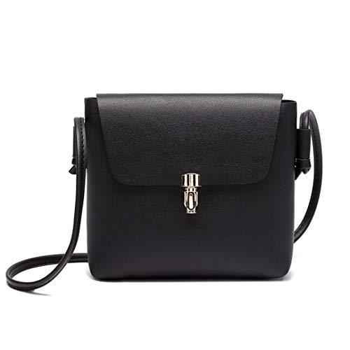 Felicove Damen Handtasche, Fashion Cover Haspe Umhängetasche Messenger Bag Phone Coin Bag Solide Prägung Taschen