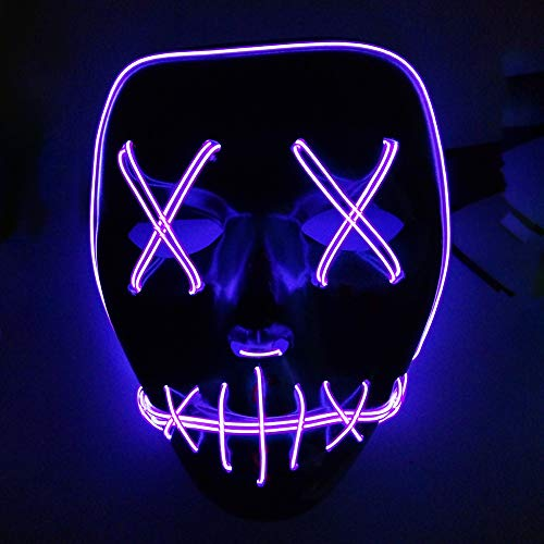 Kostüm Mann Nacht - Autotipps Halloween LED Purge Maske, 9 Farben Geister Maske, LED Licht Emittierende Maske Unisex Kostüme Nacht Atmosphäre Dekorative Gesichts Maske