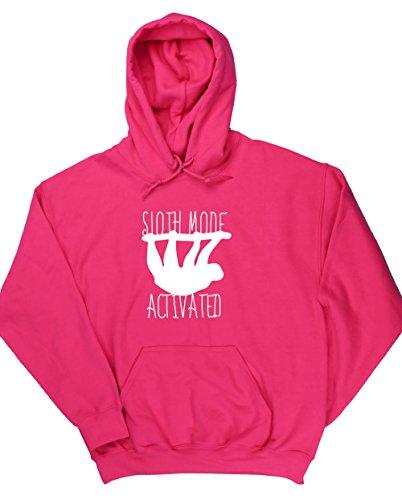 hippowarehouse-sweat-shirt-a-capuche-homme-rose-xx-large