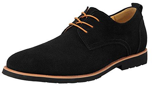 Schnürhalbschuhe Herren Schwarz Oxford-Schuhe Derby Komfort Wildleder Klassiker Oxfords US 10 10 Oxford