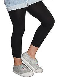 Legging enfant opaque uni, collant sans pied pour fille