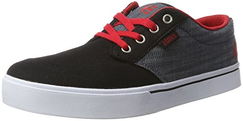 Etnies Unisex-Kinder Kids Jameson 2 Eco Low-Top, Schwarz (Black/Red/Grey), 38 EU (Kids Mädchen Etnies Schuhe)