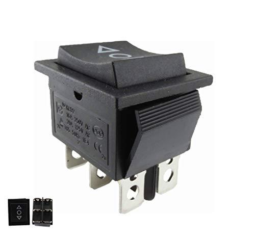 2polos, 16A, 250V (pulsable). El pulsador no encaja en la posición de encendido.La conexión solo dura mientras se mantenga pulsado el interruptor en la posición de encendido.Con accesorio de marco a presión. Dimensiones para la apertura de la inst...