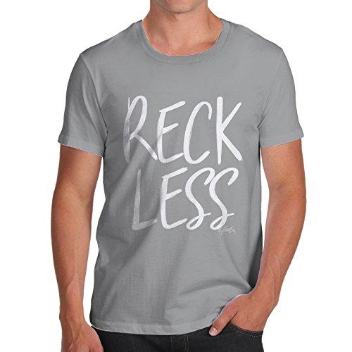 TWISTED ENVY Herren T-Shirt Reckless Print Grau