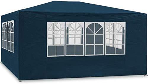 Maxx 3 x 4 m gazebo da giardino impermeabile/tenda da giardino gazebo da giardino/regolabile/gambe, per giardino/festa/matrimonio/picnic, uv30 +, pareti laterali, blu
