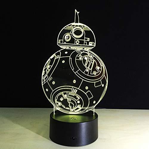 Bb8 Star Wars Sphero Droid 3d Nachtlicht Bb-8 Roboter Action Figure Spielzeug Lampe 7 Farben Ändern Kinder Geschenk Wohnkultur - Walking-spielzeug-roboter