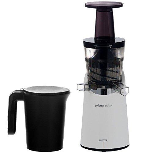 Jupiter 866100 Juicepresso Plus Entsafter Slow Juicer, weiß