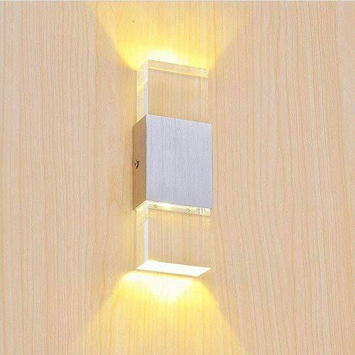 Glighone applique da parete interni lampada a muro applique led moderne 6w per decorazione soggiorno camera da letto bagno colore bianco caldo
