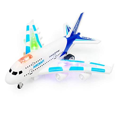 Ni_ka Airbus Sendung 747 USB-Kabel AKKU Ferngesteuertes Flugzeug Elektrisches Modell Kinderspielzeug Weiß Blau -