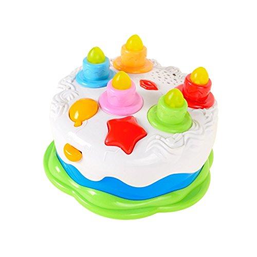 Baellar Musik Zählen Kerzen Geburtstagstorte Spiel Spielzeug Set für Baby