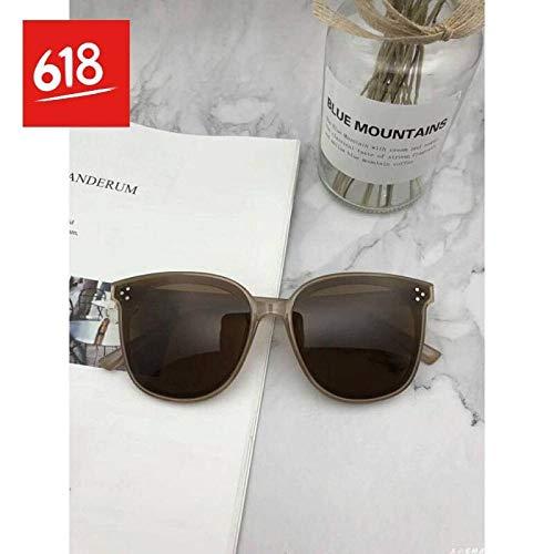 CYCY Sonnenbrillen 2019 Übergroße quadratische Sonnenbrillen Herren- und Damen-Flat-Top-Mode-Linse Siamesische Sonnenbrille Schwarzer Rahmen Farbverlauf Neu, schwarzer Rahmen