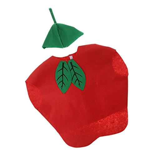 MagiDeal Scherzt Einteiliges Apfelkostüm-Vliesstoff-Ausstattungs-Partei-Abendkleid - Äpfel