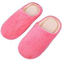 FENICAL 1 par de Zapatillas Peludas Súper Suaves Acolchadas de Algodón Acogedoras Zapatillas de Invierno Zapatillas Cálidas Zapatos para El Hogar para Mujeres Damas Niñas