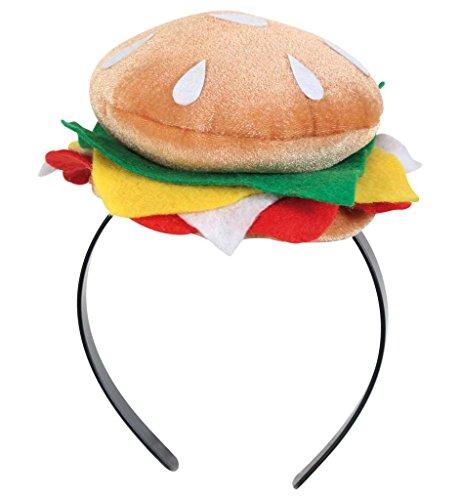 Hamburger-kostüm (Haarreif Burger Hamburger Cheeseburger Kopfschmuck)