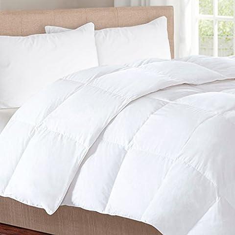 herington 500g/m² Naturel micraloft Couette en laine australienne King Size, blanc