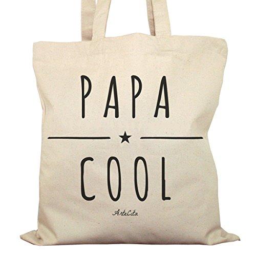 Tote Bag Imprimé Ecru - Toile en coton bio - Papa Cool