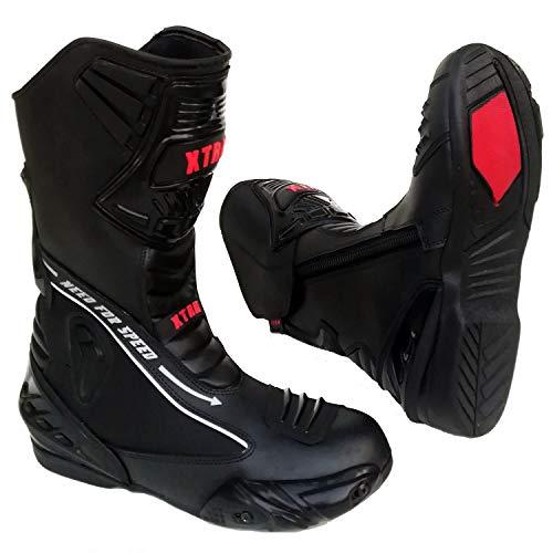 MotorradStiefel XTRM EVO Motorrad Lederstiefel Allround Sportstiefel, TourenSchuhe fur Manner und Frauen, Mehrere Farben (Schwarz,EU 42/8) Gore-tex ® Duty Boot